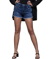 women's good american good vintage shorts, size 15 - blue