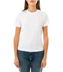 calvin klein t-shirt donna monogram logo tee j20j215497.yaf