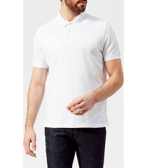 emporio armani men's small eagle polo shirt - bianco ottico - xxl - white