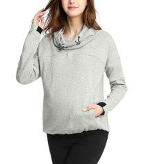 kimi + kai samara cowl neck maternity nursing hoodie