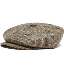 'muirfield' wool tweed bakerboy cap