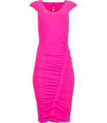 geplooide jurk floor  roze