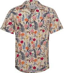 fleur d'été ss shirt overhemd met korte mouwen crème les deux