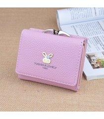 billetera mujeres- cartera de mujer monedero corto-púrpura