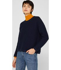 sweater de punto grueso azul esprit