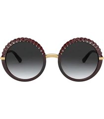 dolce & gabbana dolce & gabbana dg6130 transparent red sunglasses