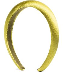 jennifer behr tori hammered silk headband - yellow