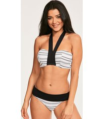 amalfi stripe underwire halter textured bikini top c-g