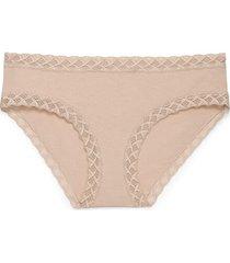 natori bliss girl brief panty, women's, 100% cotton, size xxl
