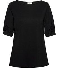 fqyr-1/2-puff blouses short-sleeved svart free/quent