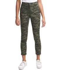 calvin klein jeans camo-print cropped skinny pants