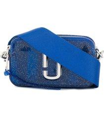 marc jacobs bolsa tiracolo com logo - azul