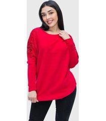 sweater lanilla hippie rojo enigmatica boutique