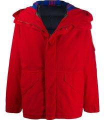 mr & mrs italy cortina mini parka coat - red