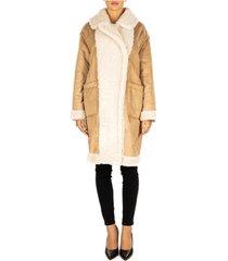 mantel twin set cappotto effetto similpelliccia