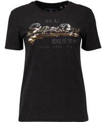 t-shirt vintage logo zwart