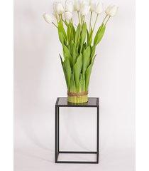 kwietnik, stolik korfu, czarne szkło, 35 cm