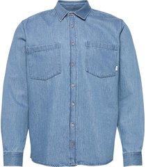 staple shirt overhemd casual blauw makia