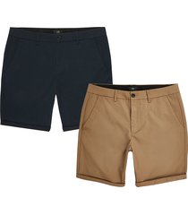 river island mens navy skinny fit chino shorts 2 pack