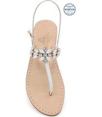 giardini di augusto jewel thong sandals