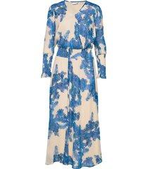 dress w. smock details knälång klänning blå coster copenhagen
