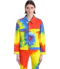 alexandre vauthier casual jacket in multicolor cotton