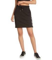 women's juicy couture drawstring waist skirt, size x-large - black