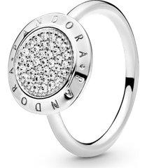anel de prata brilho pandora