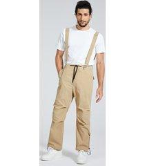 tirantes de mosca con cremallera lisos informales de moda para hombre pantalones