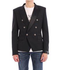 balmain double-breasted black jacket