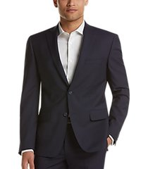dkny navy check extreme slim fit suit