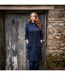 the connemara aran coat navy m