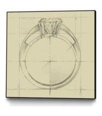 """giant art 20"""" x 20"""" ring design i art block framed canvas"""
