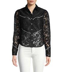 lace western blouse