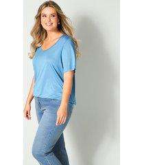 shirt janet & joyce jeansblauw