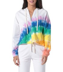 women's electric & rose westside zip hoodie, size large - white