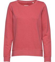 sweat-shirt, gmt dye, mop print at sweat-shirt tröja rosa marc o'polo