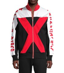 cult of individuality men's cult x track jacket - red - size xl