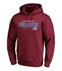 majestic colorado avalanche men's empty netter hoodie