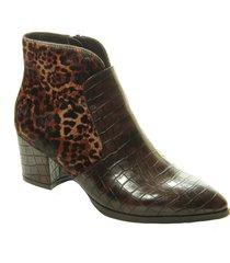 women's vaneli xilene genuine calf hair pointed toe bootie, size 6 m - brown