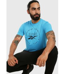 camiseta azul-negro reebok graphic series speedwick