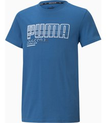 active sports t-shirt met grafische print jongeren, maat 152 | puma