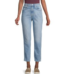 free people women's mid-rise stovepipe jeans - indigo - size 24 (0)