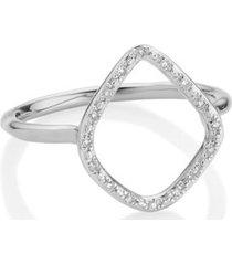 riva diamond hoop ring, sterling silver