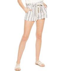 rewash juniors' striped belted paper-bag shorts