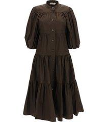tory burch long poplin dress