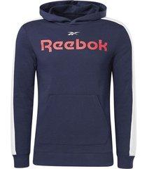 buzo training reebok essentials linear logo - azul-blanco