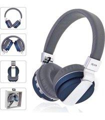 audífonos bluetooth, shuua fe-018 plegables auricular - azul