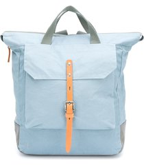 ally capellino frances buckle strap backpack - blue