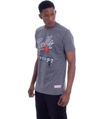 camiseta mitchell & ness drive to the basket chicago bulls cinza - cinza - masculino - dafiti